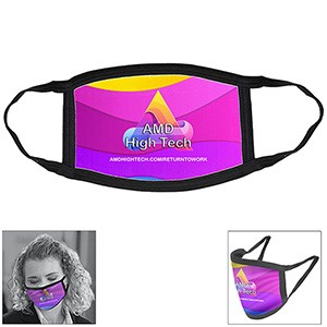 Full Color Sublimation Washable & Reusable Face Mask