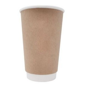 BLANK 16 oz. Double Wall Insulated Kraft Paper Hot Cup